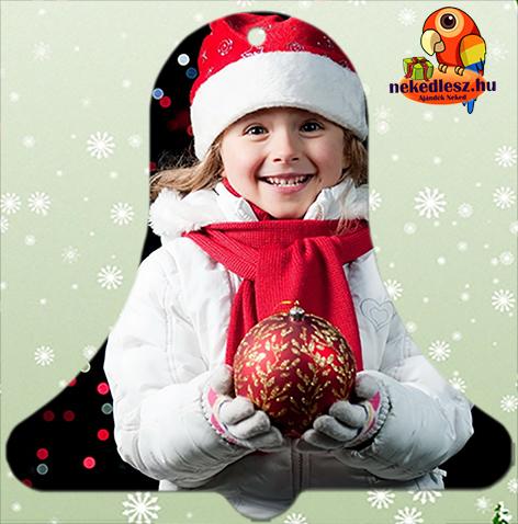 Fényképes karácsonyfadísz Harang