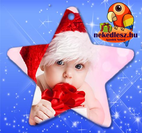 Fényképes Karácsonyfadísz Csillag