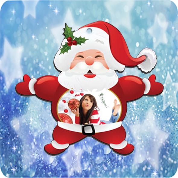 Fényképes Karácsonyfadísz Mikulás